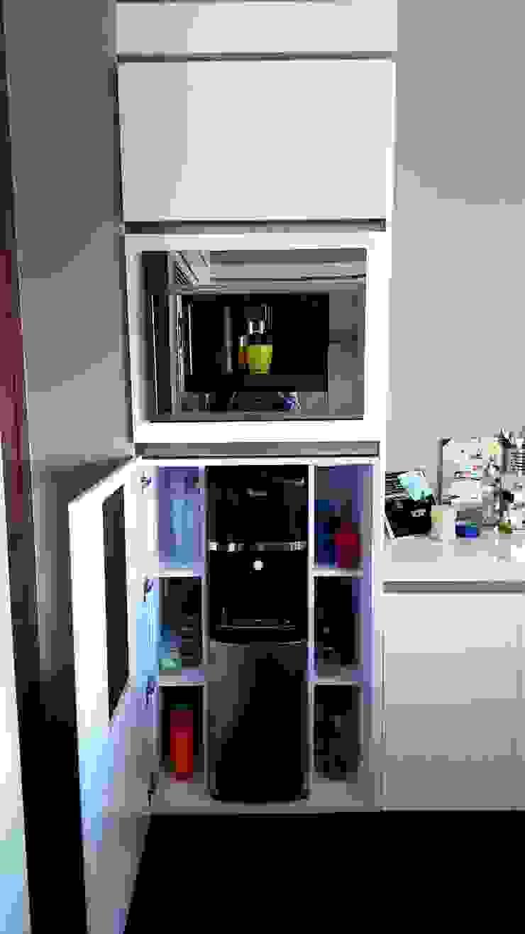 Espacios Inteligentes de Cocinas y Muebles Flores Minimalista Derivados de madera Transparente