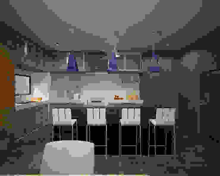 CASA P+A Cocinas modernas de ANGOLO-grado arquitectónico Moderno