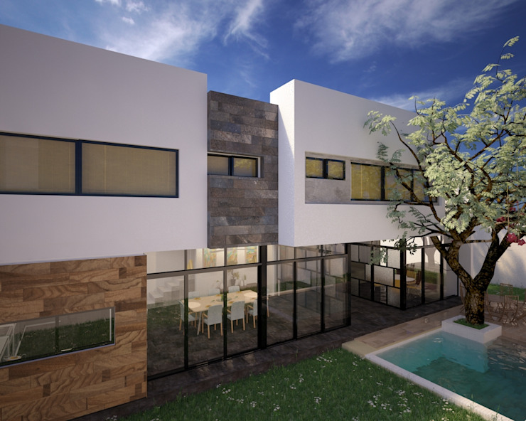 CASA P+A Casas modernas de ANGOLO-grado arquitectónico Moderno Cerámico