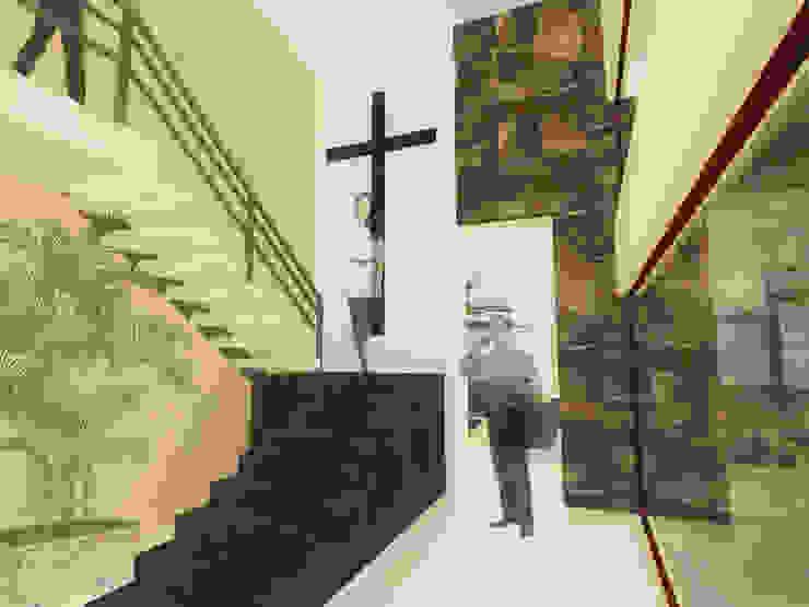 ESPACIO PRIVADO Pasillos, vestíbulos y escaleras rústicos de ANGOLO-grado arquitectónico Rústico Cerámico