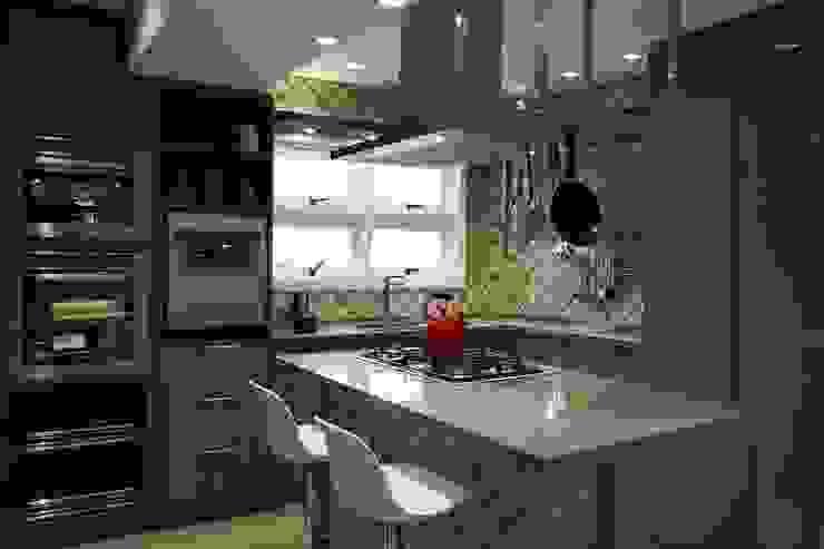 Cozinha gourmet Cozinhas rústicas por T+H arquitetura & interiores Rústico