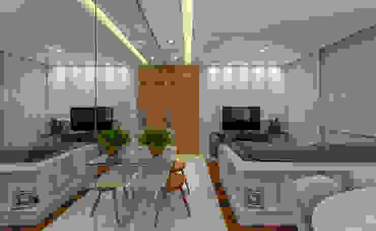 studio VIVADESIGN POR FLAVIA PORTELA ARQUITETURA + INTERIORES Modern living room White