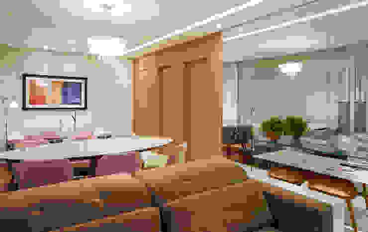 Столовая комната в стиле модерн от studio VIVADESIGN POR FLAVIA PORTELA ARQUITETURA + INTERIORES Модерн