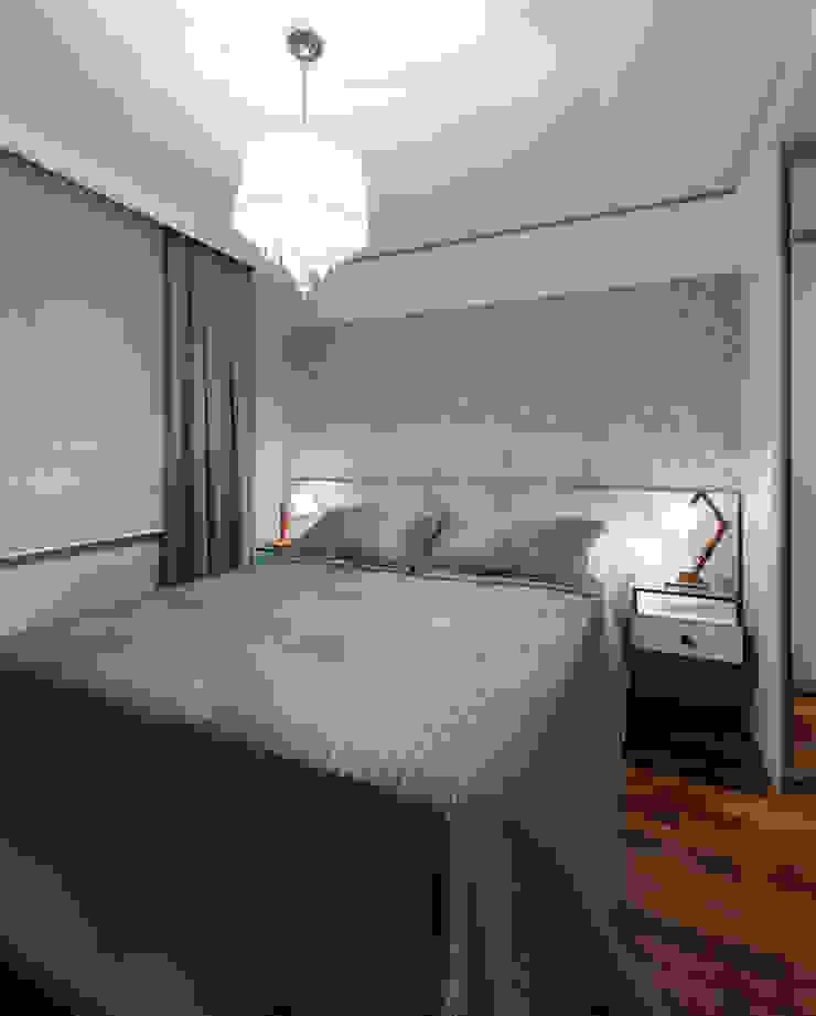 Спальня в стиле модерн от studio VIVADESIGN POR FLAVIA PORTELA ARQUITETURA + INTERIORES Модерн