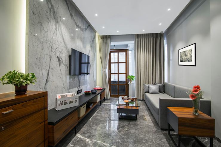 Residential - Marine Drive: modern  by Nitido Interior design,Modern Cotton Red