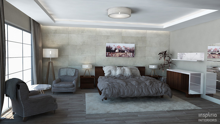 House Renovation, Mexico. Bedroom Chambre moderne par Inspiria Interiors Moderne