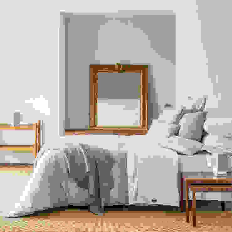 Grey Bay - Roupa de cama 100% algodão Egipto penteado / Almofadas decorativas / Manta por Home Concept Moderno