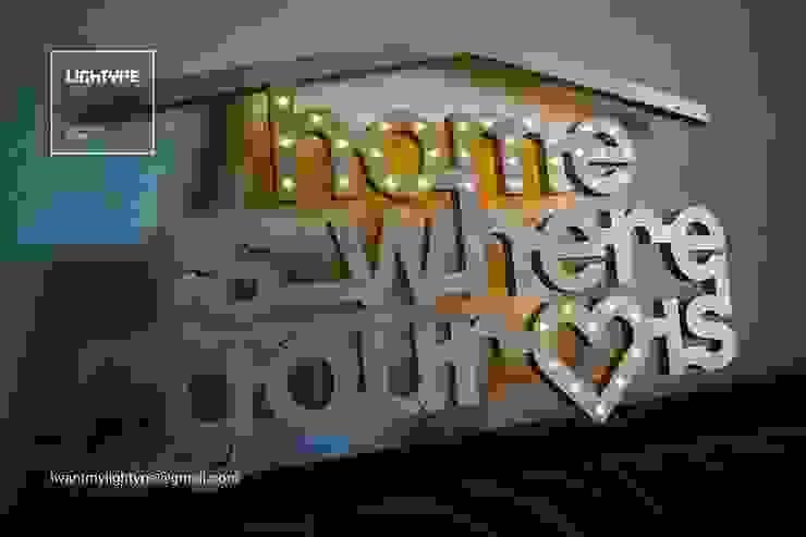 HOME IS WHERE YOUR HEART IS LIGHTYPE CasaAcessórios e Decoração