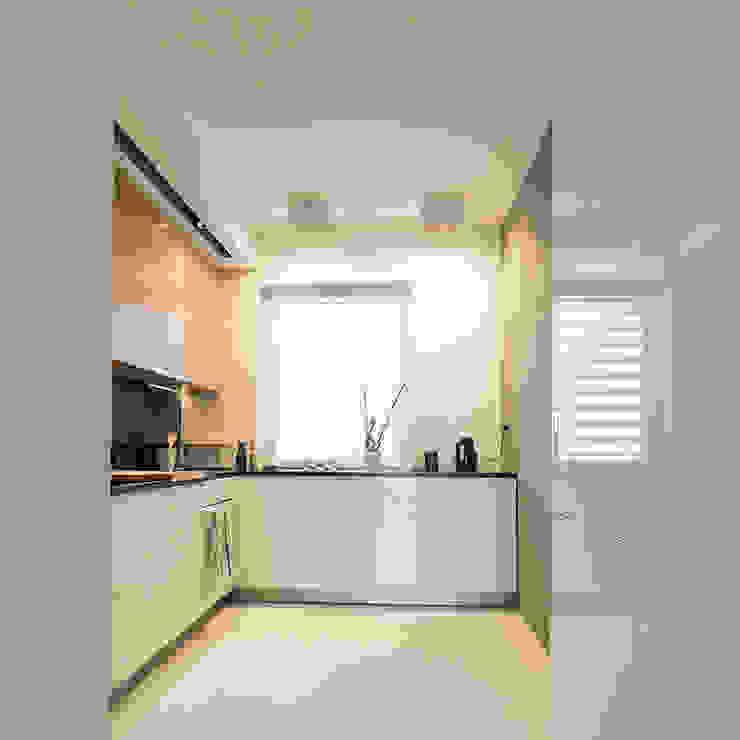 Projekt wnętrz mieszkania w budynku wielorodzinnym: styl , w kategorii Kuchnia zaprojektowany przez AP2 Architekci,Nowoczesny