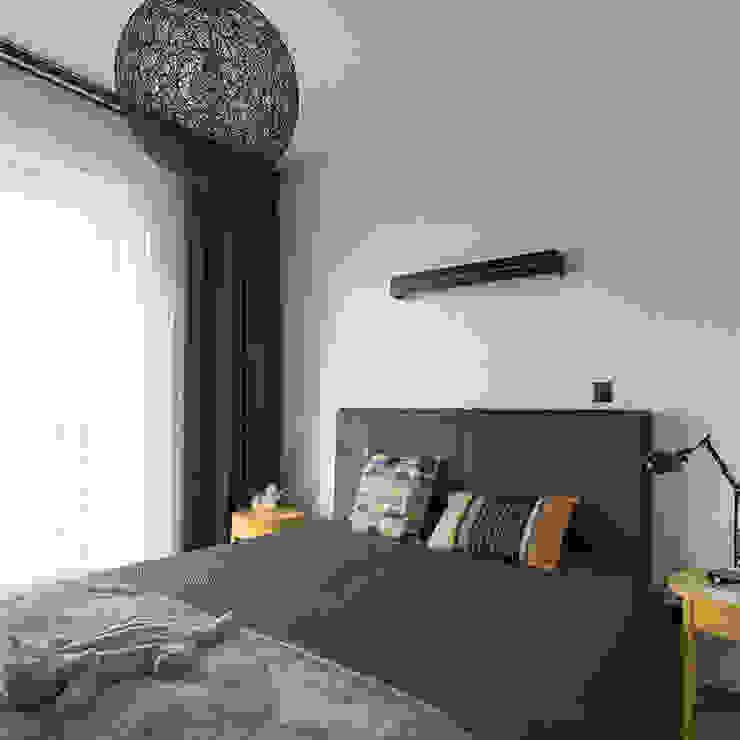 Projekt wnętrz mieszkania w budynku wielorodzinnym: styl , w kategorii Sypialnia zaprojektowany przez AP2 Architekci,Nowoczesny