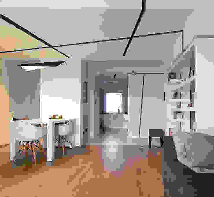Projekt wnętrz mieszkania w budynku wielorodzinnym: styl , w kategorii Salon zaprojektowany przez AP2 Architekci,Nowoczesny