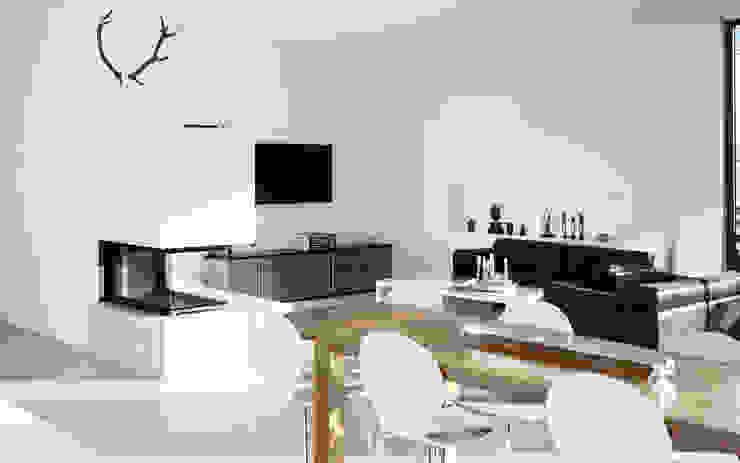 Minimalistische woonkamers van Skandella Architektur Innenarchitektur Minimalistisch