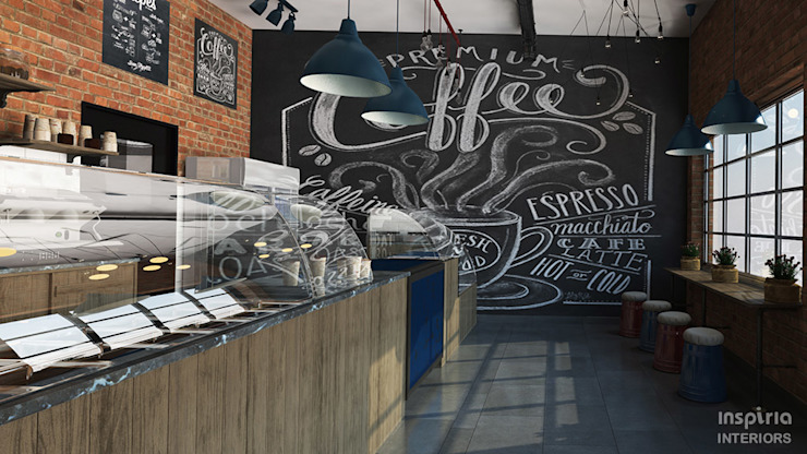 Interior Design of a Bakery / Cafeteria in SA by Inspiria Interiors Industrial