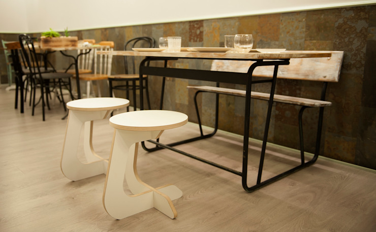TABUHOME Dining roomChairs & benches Wood White