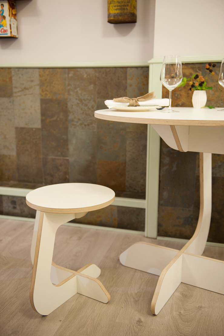 TABUHOME Dining roomTables Wood White