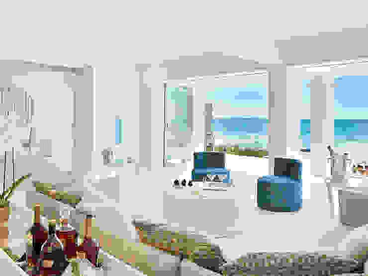 Grecia . Interdesign Hotéis modernos por Interdesign Interiores Moderno