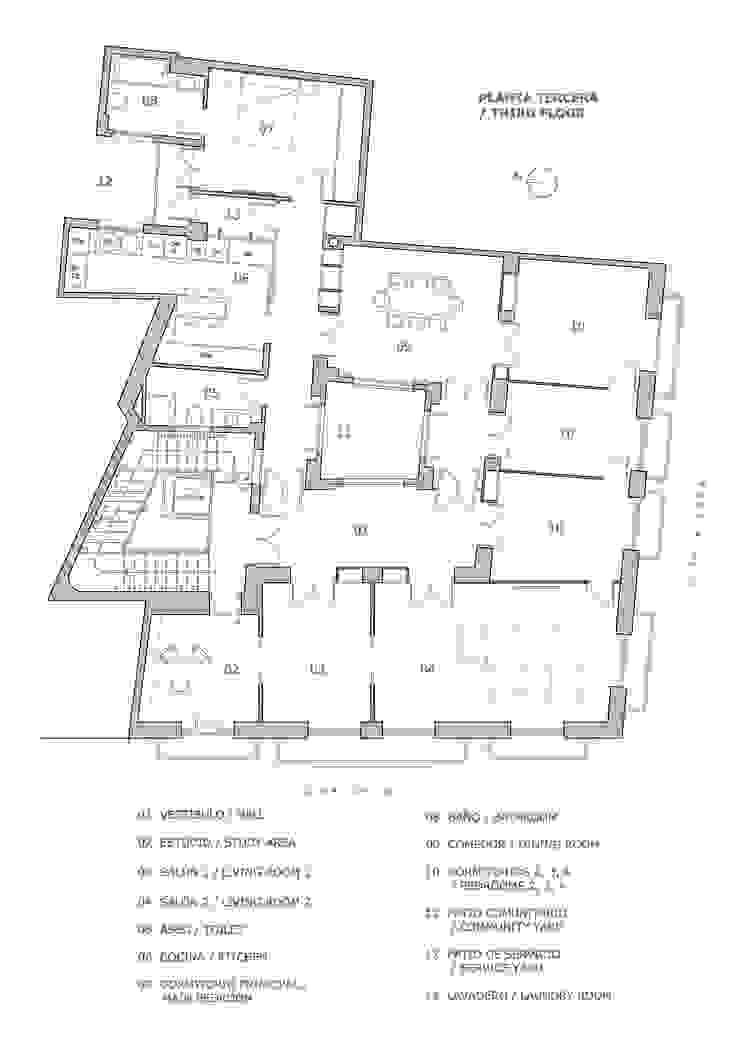 Plano estado actual LLIBERÓS SALVADOR Arquitectos