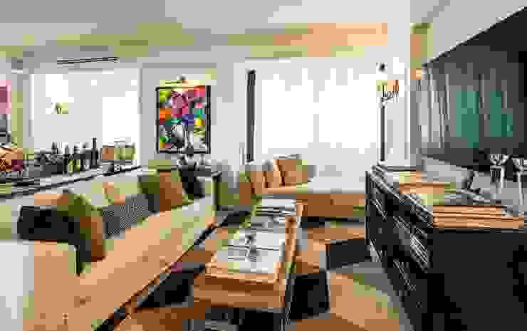 Flavia Guglielmi Arquitetura Classic style living room