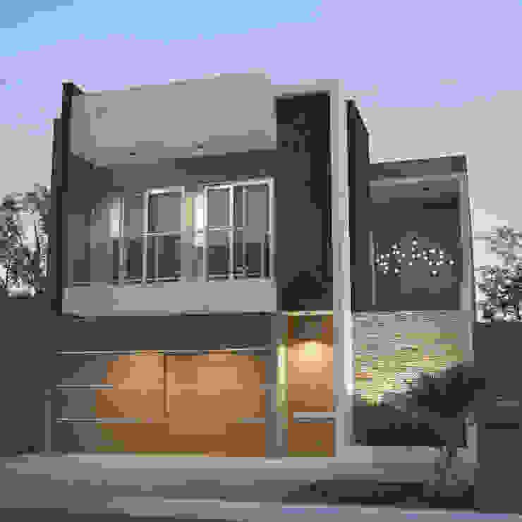 Moderno Objeto entre Medianeras Casas modernas: Ideas, imágenes y decoración de FILIPPIS/DIP - DISEÑO Y CONSTRUCCION Moderno