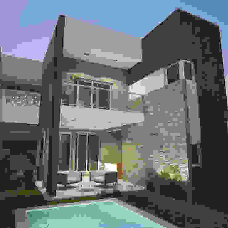 Integración exterior - interior - Juego de Volúmenes Casas modernas: Ideas, imágenes y decoración de FILIPPIS/DIP - DISEÑO Y CONSTRUCCION Moderno