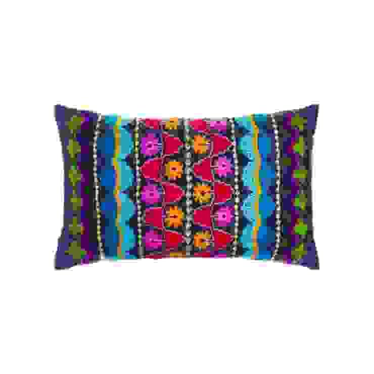Almofada por À Manápula Mediterrânico Têxtil Ambar/dourado
