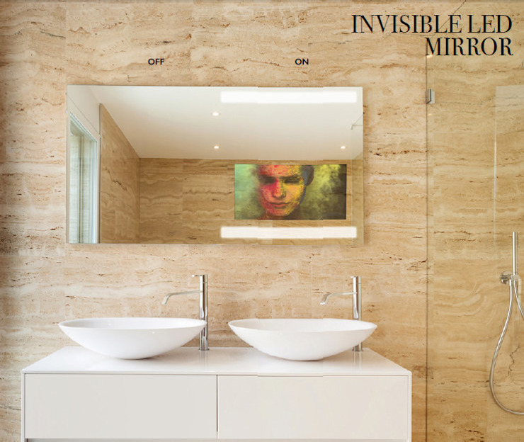 Invisible Mirror: Casas de banho  por Glassinnovation - Glass'IN,