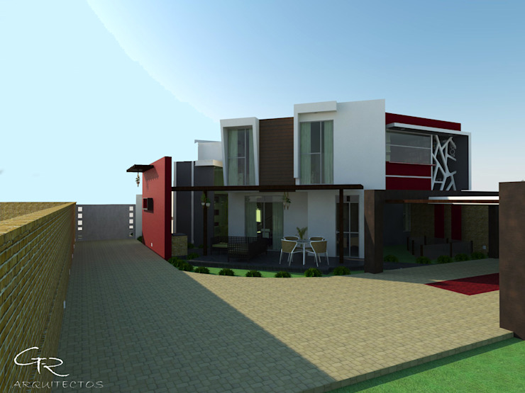 House Paraíso Balcones y terrazas modernos de GT-R Arquitectos Moderno