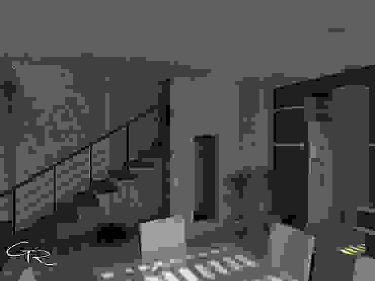 House Paraíso Pasillos, vestíbulos y escaleras modernos de GT-R Arquitectos Moderno Piedra