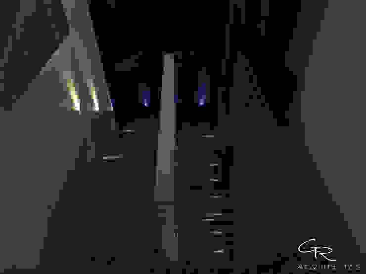 House Paraíso Pasillos, vestíbulos y escaleras modernos de GT-R Arquitectos Moderno Hierro/Acero