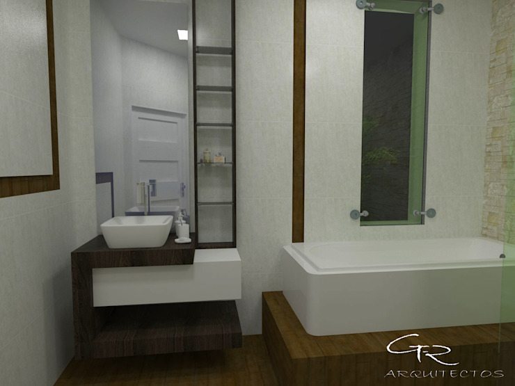 House Paraíso Baños modernos de GT-R Arquitectos Moderno Azulejos
