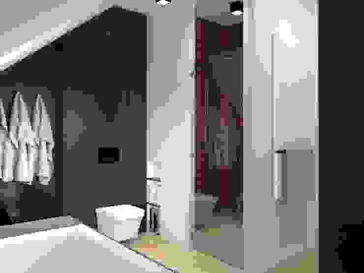 KNURÓW - BATHROOM: styl , w kategorii Łazienka zaprojektowany przez Renia Bartoszek Projektant Wnętrz,Nowoczesny
