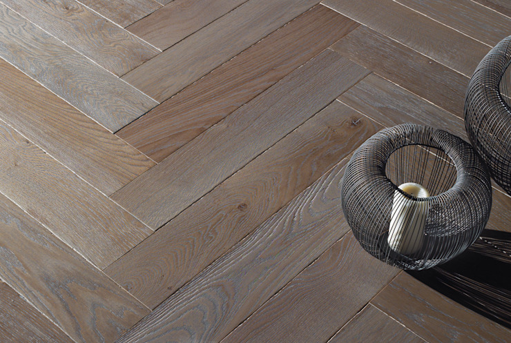 Rochene Floors Dinding & Lantai Gaya Rustic Kayu