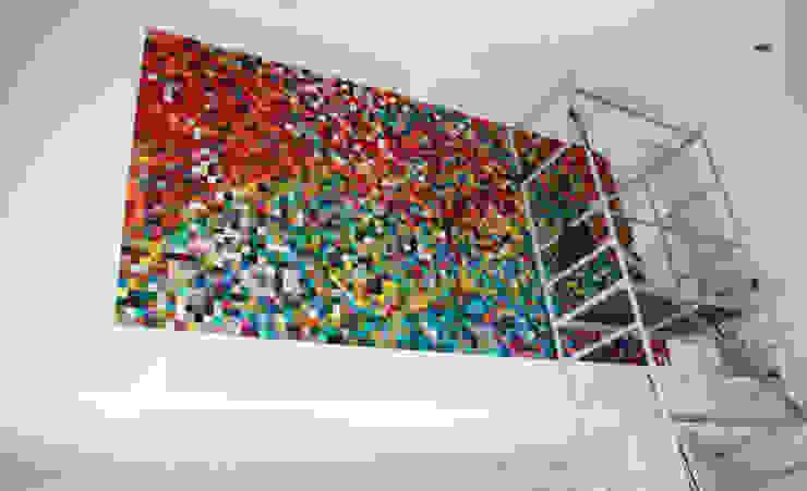 Acoustic Couture | KLEURRAAK | kunstwerk in 100% vilt met geluiddempende werking Moderne woonkamers van Anne van den Heuvel | studio voor kunst, akoestiek & interieur Modern