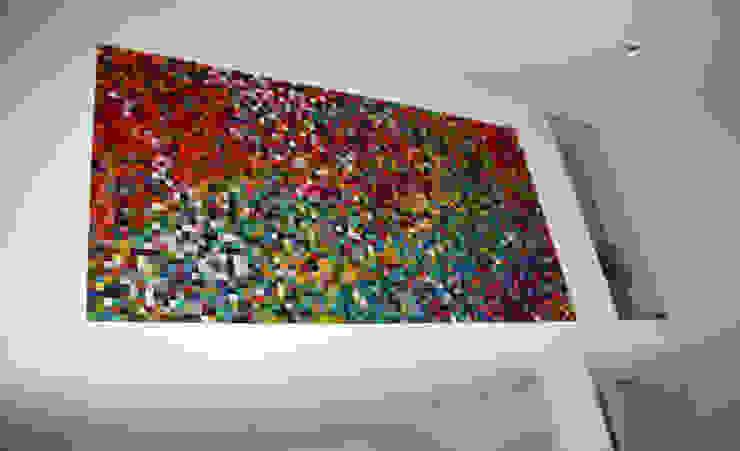 Acoustic Couture | KLEURRAAK | kunstwerk in 100% vilt met geluiddempende werking Moderne muren & vloeren van Anne van den Heuvel | studio voor kunst, akoestiek & interieur Modern