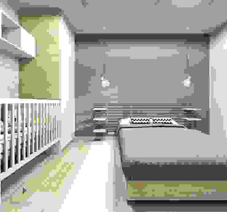 Moderne Schlafzimmer von Architekt wnętrz Klaudia Pniak Modern