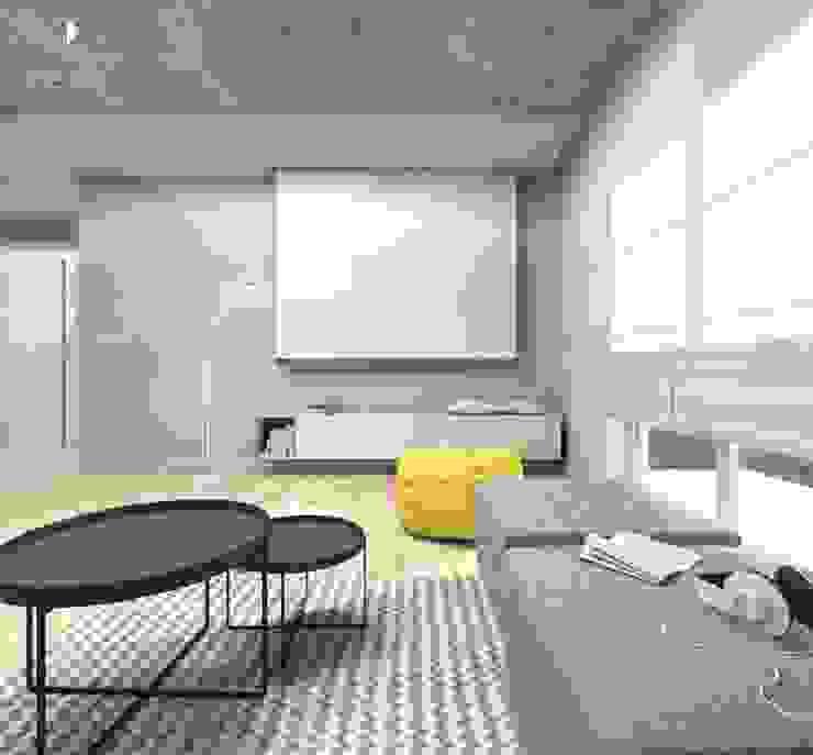 Moderne Wohnzimmer von Architekt wnętrz Klaudia Pniak Modern