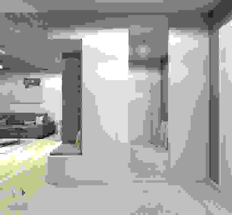 Moderner Flur, Diele & Treppenhaus von Architekt wnętrz Klaudia Pniak Modern