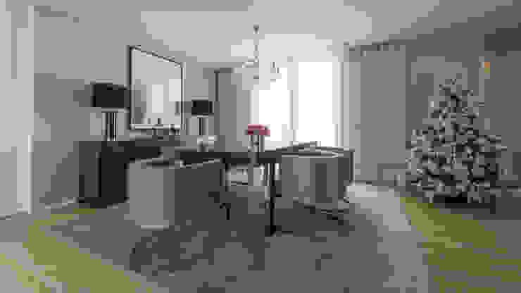 Moradia em Braga Salas de jantar modernas por NOZ-MOSCADA INTERIORES Moderno