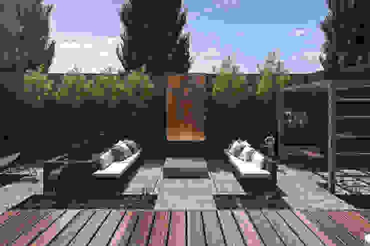 Espacio Lounge Balcones y terrazas modernos: Ideas, imágenes y decoración de TDC - Oficina de arquitectura Moderno