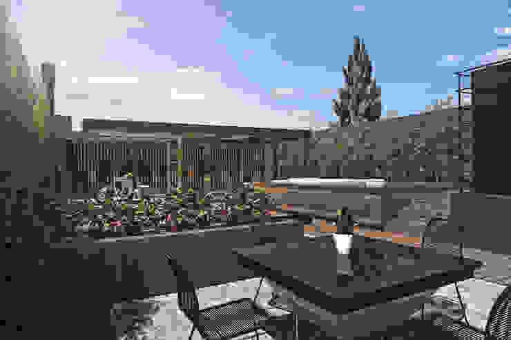 Espacio estar Balcones y terrazas modernos de TDC - Oficina de arquitectura Moderno