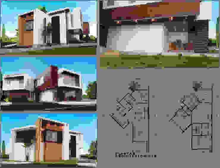 LAMINA DE PRESENTACIÓN HOUSE ANGELO Casas modernas de PROYECTARQ | ARQUITECTOS Moderno Concreto