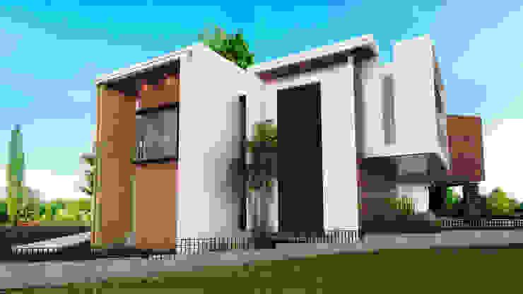 FACHADA SUR Casas modernas de PROYECTARQ | ARQUITECTOS Moderno Concreto