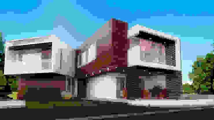 ELEGANCIA EN EL ACCESO Casas modernas de PROYECTARQ | ARQUITECTOS Moderno Ladrillos