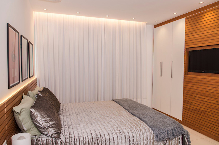 Modern style bedroom by Adoro Arquitetura Modern Wood Wood effect