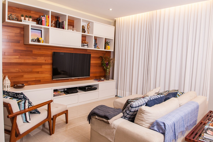 Modern living room by Adoro Arquitetura Modern Wood Wood effect