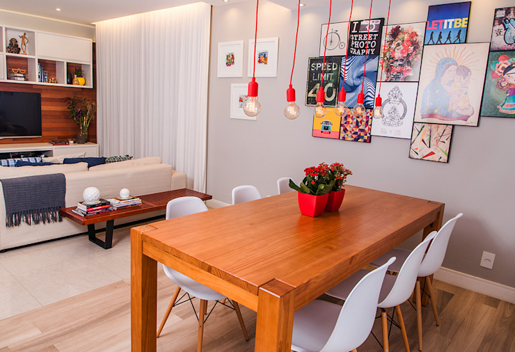 Modern dining room by Adoro Arquitetura Modern Wood Wood effect
