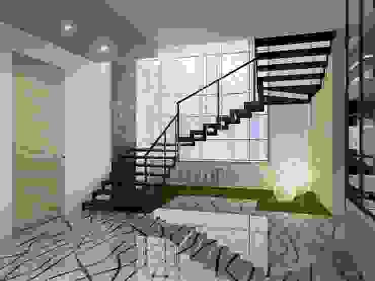 Modern country house Коридор, прихожая и лестница в модерн стиле от Artem Glazov Модерн