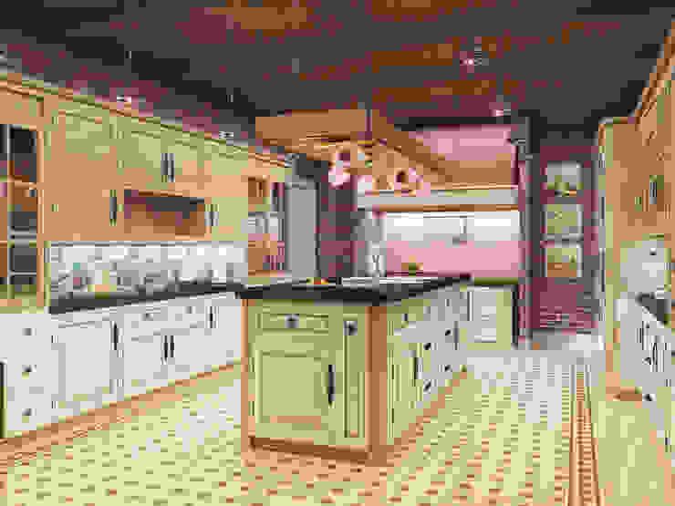 Loft country house Cocinas industriales de Artem Glazov Industrial