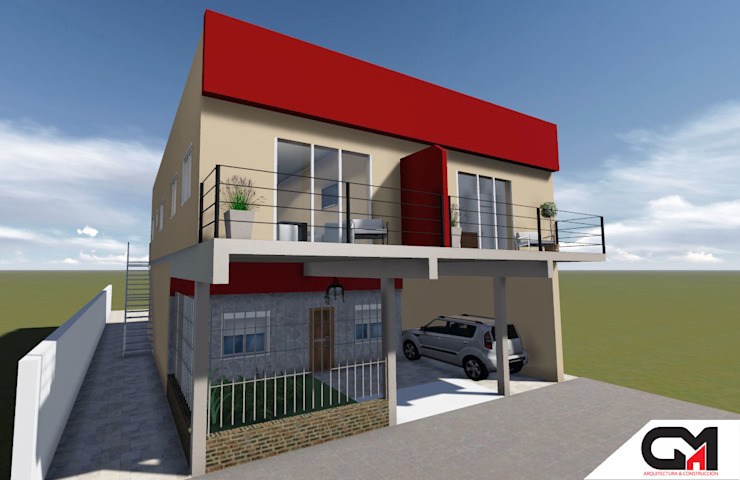 Departamentos IM: Casas de estilo  por GM Arquitectura&Construcción,Moderno