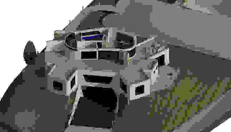 Sección Horizontal de Habitación principal. Oficinas de estilo minimalista de Bioarke Construcciones C.A. Minimalista Aglomerado